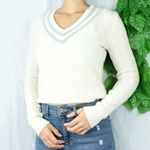 Sweaters - 100% Cashmere Ralph Lauren Golf Cable Knit Sweater